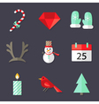 9 Christmas Icons Set 3 vector image