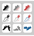 Running shoes vector image