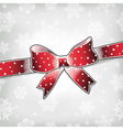 red bow on xmas background vector image