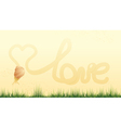 Snail and heart vector image vector image