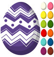 colorful purple ultra violet easter chocolate vector image