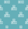 education abc blocks pattern seamless blue vector image