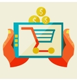 Electronic commerce and various shopping vector image
