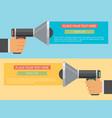 flat design business concept digital marketing vector image