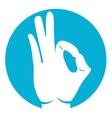 ok hand icon vector image