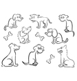 Set Of Cartoon Dogs vector image