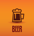 traditional beer cup symbol vector image