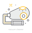 Thin line icons Vacuum cleaner vector image
