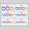 steps timeline infographic template with arrows vector image