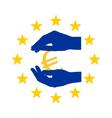Protection for Euro vector image