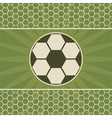 Soccer greeting card with game ball vector image