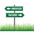 arrows success failure vector image