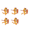 Cannibal Cat Jumping Sprite vector image vector image