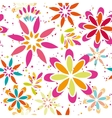 Summer floral seamless patter vector image