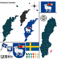 Map of Gotland vector image