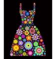 flower dress vector image