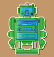 09 Tin Toy Robot vector image