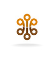 Abstract tech logo vector image