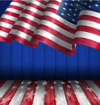 American Flag for Independence Day 4 th of July vector image
