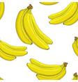 bananas hand drawn sketch seamless pattern vector image