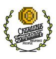 color vintage charitable foundation emblem vector image