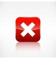 Delete web icon Close symbol Application button vector image