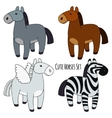 Horses Set vector image