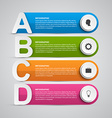 Infographics design template for presentations or vector image