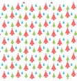 seamless pattern of colorful christmas trees vector image