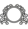 border frame ornament vector image