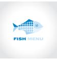 concept fish menu simple icon symbol for fish vector image vector image