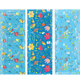 Floral vertical banners set vector image