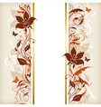 Vertical banner with orange and brown flowers vector image vector image