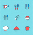 Food and restaurant icons icon set in flat design vector image