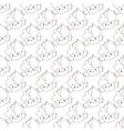 outline cupcakes seamless pattern Kawaii vector image