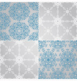 Seamless Patterns with Snowflakes fully vector image