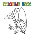 Coloring book of funny vulture vector image