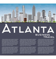 Atlanta Skyline with Gray Buildings Blue Sky vector image
