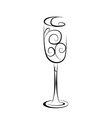 Abstract champagne glass vector image