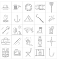 Fishing Line icons vector image