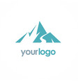 mountain volcano logo vector image