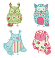 Owl Scrapbook Collection vector image