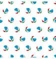 seamless pattern summer beach ball background vector image