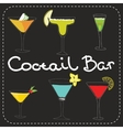 Set of alcoholic cocktails art stylized vector image