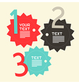 Three Steps Paper Infographics Flat Design Layout vector image