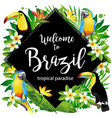 welcome to brazil rhombus vector image