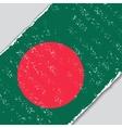 Bangladeshi grunge flag vector image