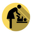 symbol for women and baby baby changing vector image