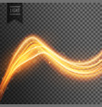 transparent light effect with golden fire wave vector image