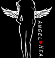 Female silhouette as angel vector image vector image